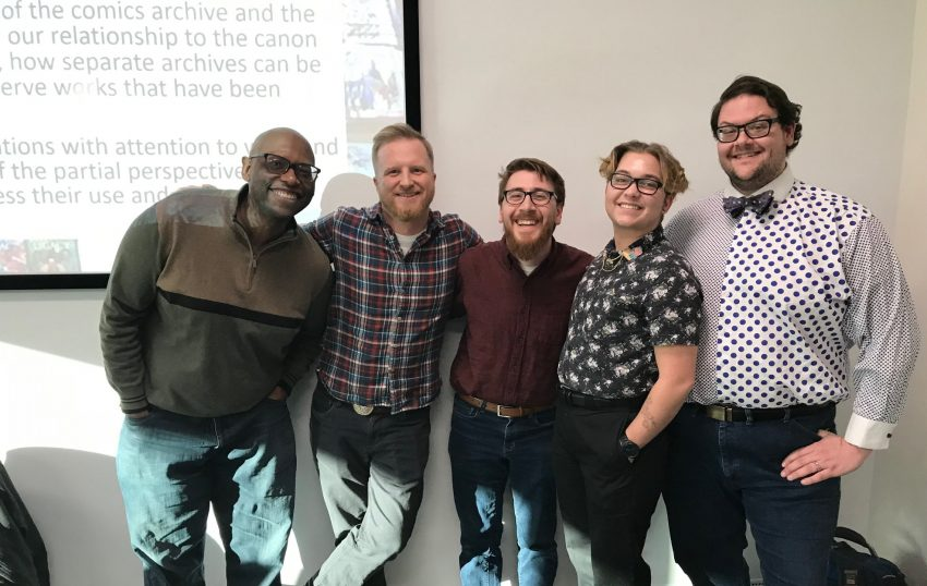 Image shows Dr.Julian Chambliss, Zack Kruse, Justin Wigard, Bruno Ford, and Michael Stokes